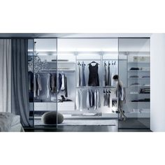 best walk in closet designs:lovely inspiring walk in closet design black stained wood floor material glass room divider with white squared mat rounded ottoman chair modern wardro Custom Closet Design, Walk In Closet Design, Closet Designs, Small Dressing Rooms, Dressing Room Closet, Walking Closet, Closet Walk-in, Closet Ideas, White Closet
