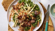 Vegetable Salad Recipes, Vegetable Seasoning, Tofu Recipes, Vegetarian Recipes, Healthy Recipes, Teriyaki Tofu, Crispy Tofu, Winter Salad, Sweet Chilli