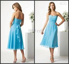 Popular Cheap Blue Dresses For Weddings