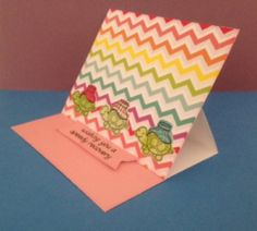 Speedy recovery get well card with On the Mend stamps and dies by Lawn Fawn. Easel card. Patterned paper from #summer by American Crafts.