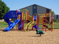 the new playground at the kid-friendly Kimber Green Apartments | Apartments for Rent in Evansville, IN