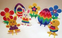 Easter Hama Bead Display by Merrily Me, via Flickr