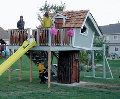 tree house on tree stump - Google Search