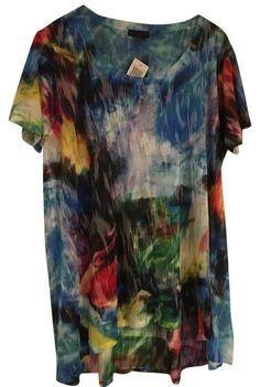efcc406ff6476 Multicolor Burnout Tunic Size 22 (Plus 2x) 71% off retail