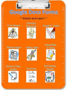 TOUCH this image: Google Docs Forms by denise jaffe