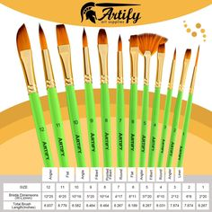 Amazon.com: Artify 12 Pcs Paint Brush set | Pop-up Stand Carrying All in One Case with free Palette Knife and Sponge| Perfect for Acrylic Oil Watercolor Gouache