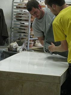 Clay wedging table - plaster mixing ratios and guidelines