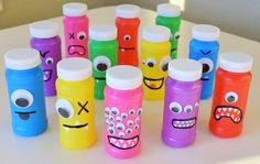 Neat Little Nest: DIY Monster Bubbles for Kids' Birthday Party (Bottle Bag Birthday Parties) Little Monster Birthday, Monster 1st Birthdays, Monster Birthday Parties, Birthday Bash, First Birthday Parties, First Birthdays, Birthday Ideas, Party Favors For Kids Birthday, Party Favours