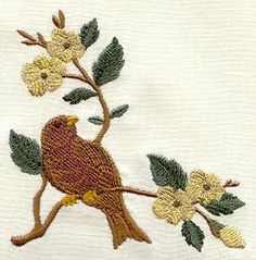 Machine Embroidery Designs at Embroidery Library! - Birds on Flowering Branches