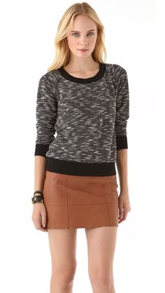 Club Monaco Brittany Sweater + Leala Skirt. Laid back chic.