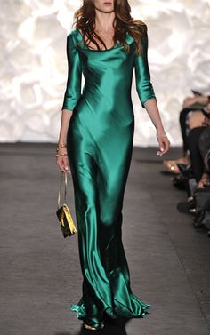 Casual Sexy V Neck Pure Green Color Evening Party Maxi Dresses – modewish evening dresses,elegant evening dresses,long evening dresses dresses Maxi Robes, Maxis, Maxi Skirts, Satin Dresses, Dresses Dresses, Green Satin Dress, Green Gown, Pink Gowns, Sleeve Dresses