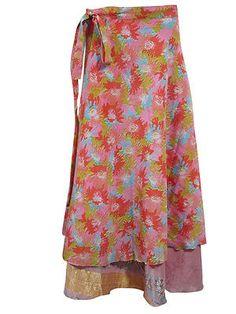 Women s Silk Wrap Skirt by baydeals Bohemian Skirt, Gypsy Skirt, Boho Skirts, Beach Wrap Skirt, Silk Wrap, Tie Dye Skirt, Sari, Fashion Outfits, Summer Dresses