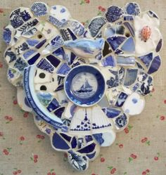 Heart Blue Home sail away home by susanjenkinsart on Etsy, $92.00