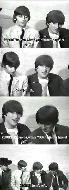 When they were asked to describe to their dream woman: | 9 Times The Beatles Proved They Were Cheeky