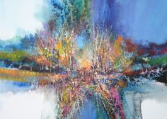 """""""Dark Shadows That Sheen"""" – Contemporary Watercolor Landscape Painting"""