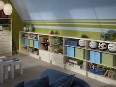 great storage and usage of space with slanted walls..if the next house has these