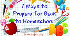Getting ready for Back to Homeschool. Organization tips!
