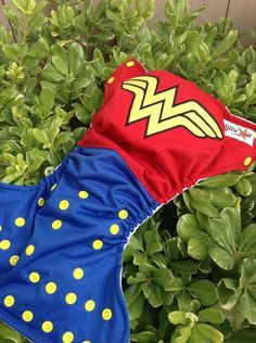 Wonder Woman Inspired Cloth Pocket Diaper by LittleButtDiapers, $25.00