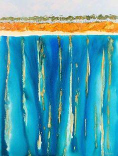 """Red Rock Coast and The Deep Dark Blue"" by scott jackson. Paintings for Sale. Scott Jackson, Buy Art Online, Paintings For Sale, Online Art Gallery, Artworks, Dark Blue, Coast, Shots, Deep"