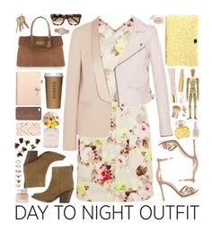 """""""Day to Night"""" by mrstn123 ❤ liked on Polyvore featuring Carven, Vanessa Bruno, IRO, Gianvito Rossi, Acne Studios, Mulberry, Dolce&Gabbana, House of Waris RARE, Houbigant and Coach"""