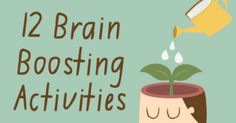 12 Brain Boosting Activities ~ http://healthpositiveinfo.com/12-brain-boosting-activities.html