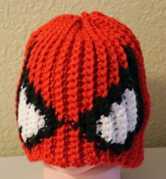Crochet Baby Hat Spiderman by ATreasuredMemory on Etsy, $12.00