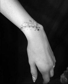 Cute tattoos for women, wrist tattoos for women, hand tattoos, body art tat Little Tattoos, Mini Tattoos, Body Art Tattoos, Small Tattoos, Tatoos, Wrist Band Tattoo, Wrist Bracelet Tattoo, Cute Tattoos For Women, Wrist Tattoos For Women