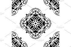 Oriental vector pattern with damask, arabesque and floral elements. Arabesque Pattern, Arabic Design, Vector Pattern, Abstract Backgrounds, Damask Patterns, Shapes, Floral, Oriental, Graphics