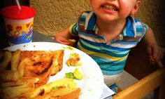 Mom-Share Tip Of The Week: Add avocado to a grilled cheese to make it healthier when eating out with #kids! #healthyfood #eatingout #parenting #tips #misadventuresinmommyhood