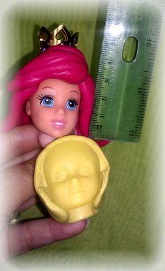 Silicone mold, face Little Mermaid Ariel.. $9.99, via Etsy.