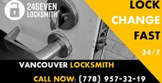 #LockChange is one of the #MostPopular calls we get from the clients who want to either improve their current #homesecurity or their #lock has been damaged and doesn't function property, hence requires a new installation. #24sevenlocksmith #Vancouver