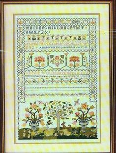 """""""the Chase"""" Sampler Kit williamsburg By Elsa Williams Counted Cross Stitch"""