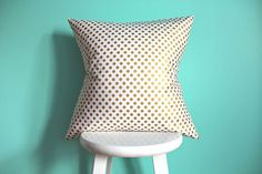 metallic gold dot pillow cover by iviebaby on Etsy