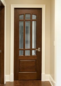 Custom Interior Mahogany Wood Door - Single - Solid Wood Mahogany