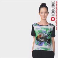 Sold!! 😄...thanks to the person in North Carolina USA 🇺🇸 who bought this 'Robin' chiffon top design from my Redbubble webstore.    .  .  #robin #nature #redbreast #chiffon #art #paintings #instaart #artist #artistsofinstagram #hoganfinland #instavideo #video #instalike #redbubble #redbubblecreate #redbubbleartist #videooftheday #birdart #womensfashion #fashionart #fashionista #rockingrobin #instaartist #animation #birds #visualart #sold