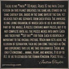 Quote: Justin Taylor Peace