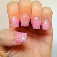Pink Glitter Nails. (My Nails done by Lee at Get Nailed in Austell, GA)