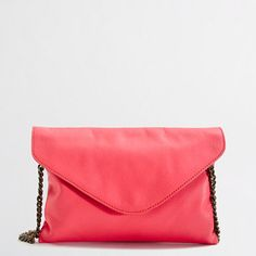 Factory leather envelope clutch