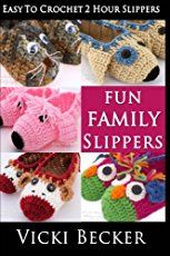 Crochet an easy pair of slippers using a thick yarn and an easy free crochet pattern