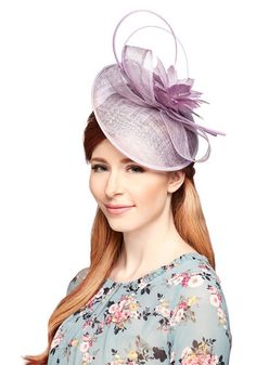 Proper Panache Fascinator. Before tonights gala, you zip into your trusty LBD, step into metallic pumps, and position this lilac fascinator atop your head. #purple #wedding #bridesmaidNaN