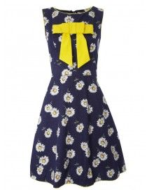 146 - It's Bow Time - Navy Vintage Daisy
