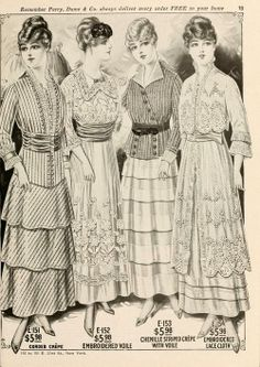Golf Outfit S Women Four Dresses on page 14 Perry, Dame 1900s Fashion, Edwardian Fashion, Vintage Fashion, Vintage Beauty, Vintage Outfits, Vintage Dresses, Women's Dresses, Flapper Dresses, Historical Costume
