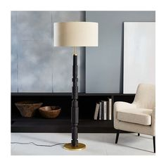 Adam Court Floor Lamp ($399) via Polyvore featuring home, lighting, floor lamps, antique brass lighting, antique brass lamps, antique brass floor lamp and adam