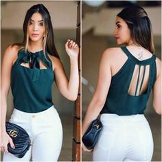 ✨ look casual lindo ✨ Classy Outfits, Casual Outfits, Fashion Outfits, Womens Fashion, Blouse And Skirt, Blouse Dress, Blouse Styles, Blouse Designs, Indian Designer Outfits