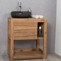 Meuble de salle de bain en teck cosy 67cm