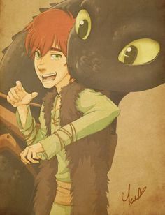 HTTYD fanart- Brothers - Hiccup and Toothless Toothless And Stitch, Hiccup And Toothless, Hiccup And Astrid, Toothless Dragon, Dreamworks Animation, Disney And Dreamworks, Disney Films, Jack Frost, Fandom