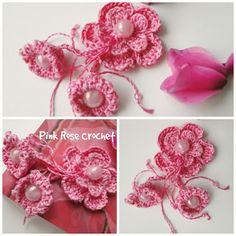 PINK ROSE CROCHET: Florzinhas Pink