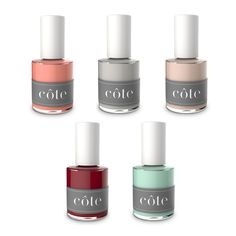 The New 5-Free Nail Polish Line You're Going To Love | eco-friendly, cruelty-free, vegan, free of 5 major toxins used in most nail lacuqers | spring colors | Côte | The Zoe Report