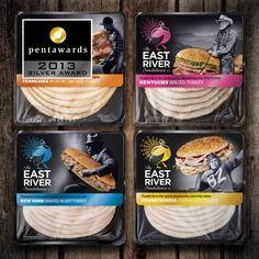 Design : Springetts Brand Design Consultants pour la marque The East River Smokehouse Co. (Royaume-Uni) // Catégorie : Poisson, viande, vola... - #food #packaging et plus encore sur http://www.communication-agroalimentaire.com