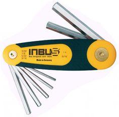 """INBUS® 70402 - Zoll Klapphalter 6tlg. 3/32-5/16"""" Made in Germany      Klapphalter 6tlg. 3/32-5/16""""     sehr kompaktes Werkzeug     geschickte Hebefunktion (Rückseite) erleichtert das Öffnen     10 Jahre Garantie     Marke: INBUS® - Das Original seit 1934.  http://www.inbus.de/home/inbus-zoll-/39/inbus-70402-inbusschluessel-satz?c=9"""
